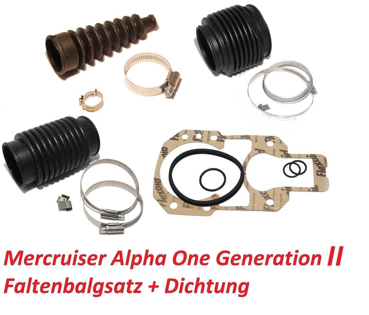 Faltenbalgsatz II Mercruiser Alpha One Generation II Faltenbalgsatz Z-Antrieb Service-Kit Bälge e69795