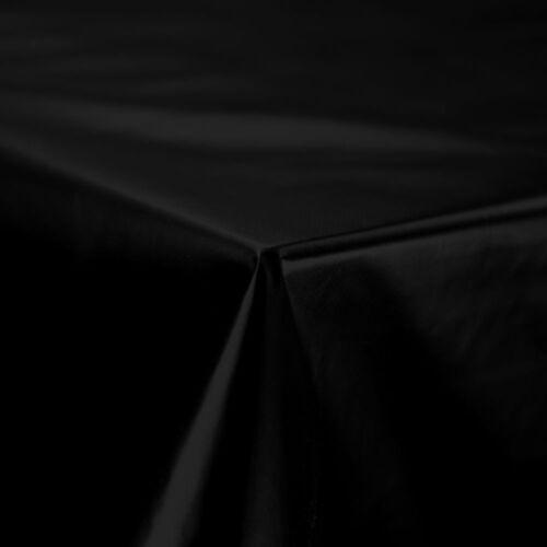 Plain Brillant Solide Noir Facile à Nettoyer PVC Matière Plastique Huile Vinyle TABLE CLOTH