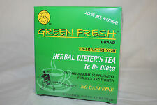 Green Fresh EXTRA Strength Herbal Diet Tea for Weight Loss (30 count)- MI U.S.A.