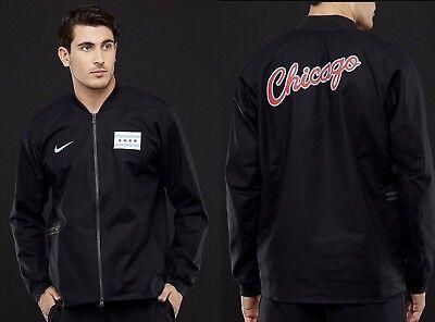 Nike Chicago Bulls City Edition Varsity Jacket XL   #1921231294