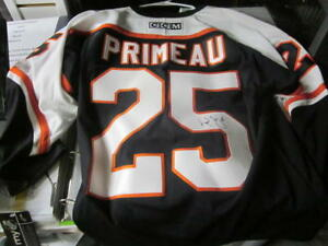 huge selection of 5dbec 6f633 Details about Keith Primeau Philadelphia Flyers Signed Replica Black Jersey  COA