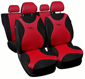 CAR-SEAT-COVERS-fit-Nissan-Murano-black-red-full-set