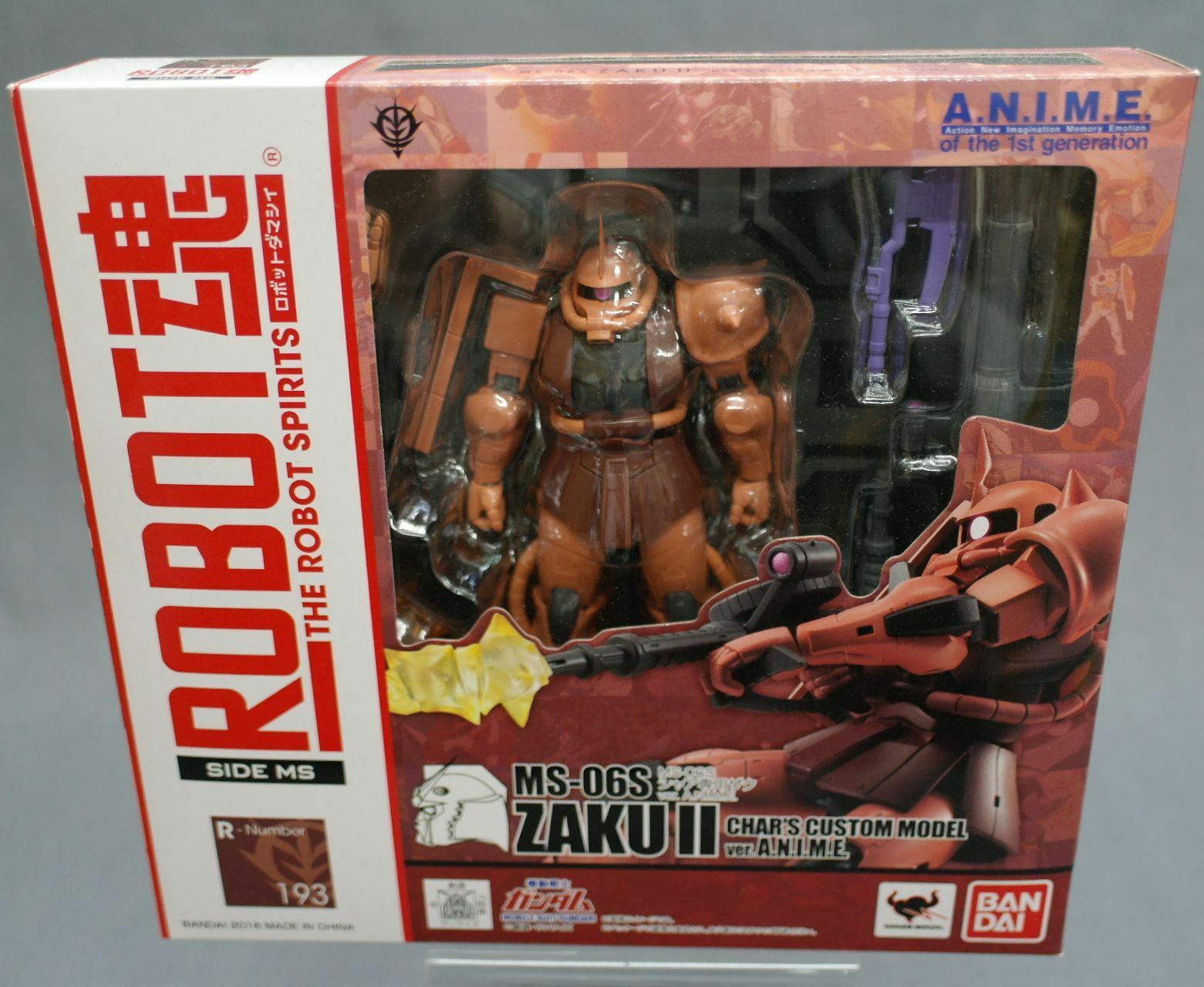 Mobile Suit Gundam Robot Spirits Side MS MS-06S Chars ZAKU Ver. A. Japan New