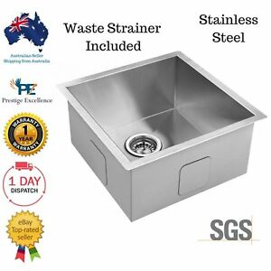 Kitchen Laundry Sink Stainless Steel Undermount Single Modern Square Design New