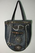 Hand Made Jean Denim Tote Bag or Beach Bag, School Bag or Nappy Bag