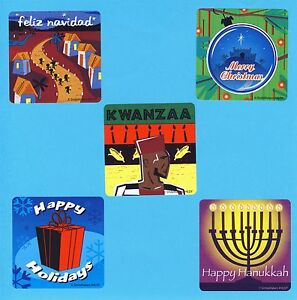 Christmas Hanukkah Kwanzaa And Other Holidays.Details About 15 December Winter Holidays Large Stickers Christmas Kwanzaa Hanukkah