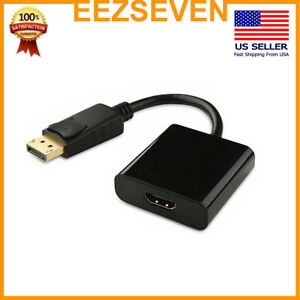 2-Pack-Display-Port-to-HDMI-Male-Female-Adapter-Converter-Cable-DP-to-HDMI