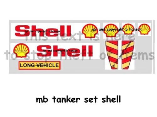MATCHBOX TANKER STICKER SET SHELL