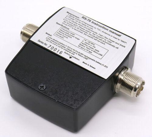 NISSEl RS-70 Digital SWR /& Power Meter 1.6-60 Mhz HF 200W For 2 Way Radios