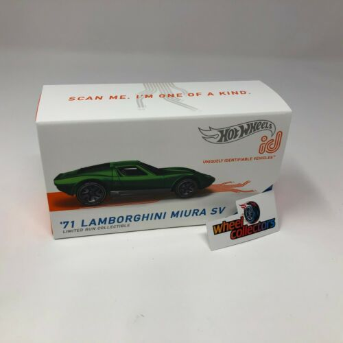 /'71 Lamborghini Miura SV ZD32 Green 2020 Hot Wheels ID Car