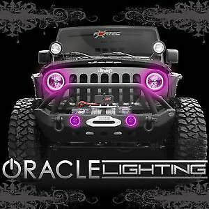 Halo Lights For Jeep Wrangler >> Details About Oracle 7079 009 2007 2017 Jeep Wrangler Jk Pink Headlight Halo Light Assembly
