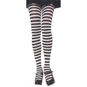 Leg Avenue 7100 Opaque Striped Tights Plus Size 1-2X or 3 ...