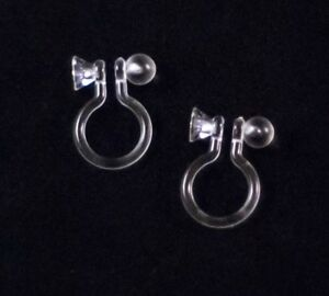 Image Is Loading 3 Pairs Invisible Clip On Earrings Findings Post