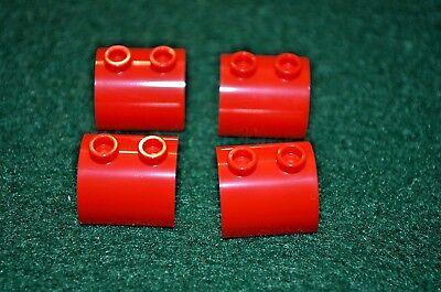 2x2 Red Round Plate Bricks ~ Lego ~ NEW ~ Castle 8