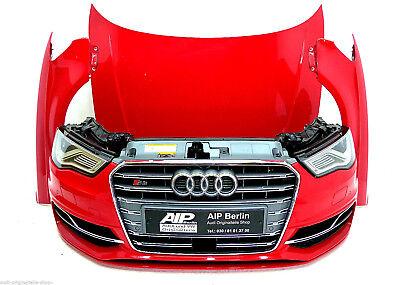 Audi S3 8V Frontpaket VOLL LED Front Stoßstange Stoßfänger Kühlergrill Misanorot