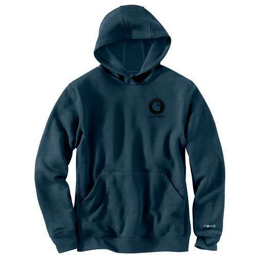 NEW  CARHARTT Force Delmont Hooded Sweatshirt DARK SLATE HEATHER 103453-461 LG