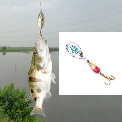 Fishing Lure Artificial Bait Metal Bionic Fishing Tackle sequins spinner Sg