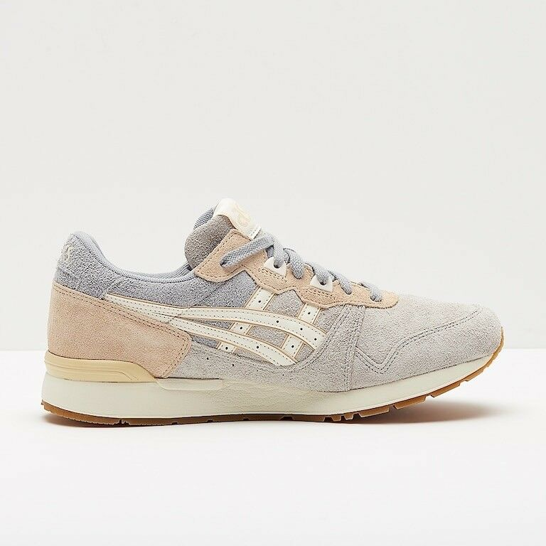 Asics Gel Lyte H826L 9600 Glacier Grey Cream Lace Up Leather Casual Trainers