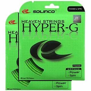 2 Packs De Solinco Hyper-g 17 G 1.20 Mm Tennis String-afficher Le Titre D'origine Artisanat D'Art