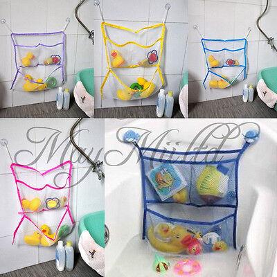 Home Bathroom Suction Net Bag Bath Baby Kid Storage Organizer Tidy Toy New T