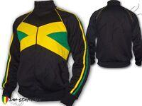 Rasta Jacket Jacke Tracksuit Rastafari Jah Star Jamaica Jamaican Style Flag