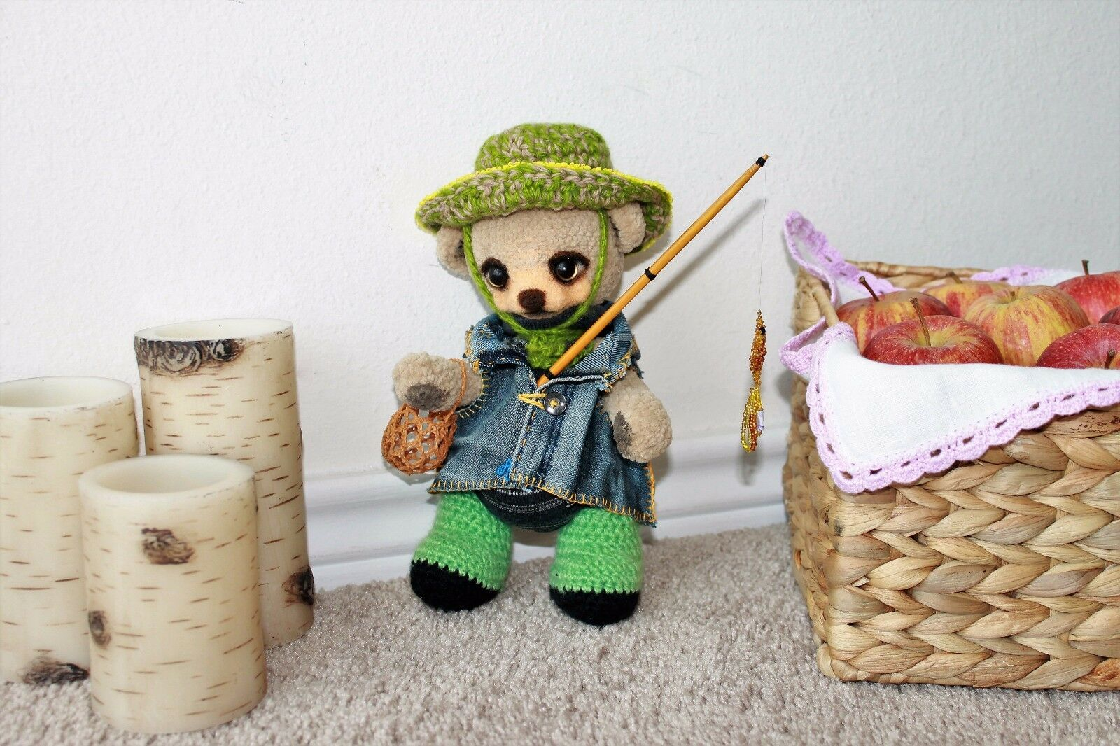 Crochet toys, handmade, high-quality, exclusive teddy bear,present bear,present for new year
