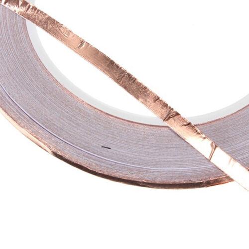 EMI Tape 3mm X 30M Kupferband,Schneckenschutz Kupferfolie Selbstklebend 3 Stk