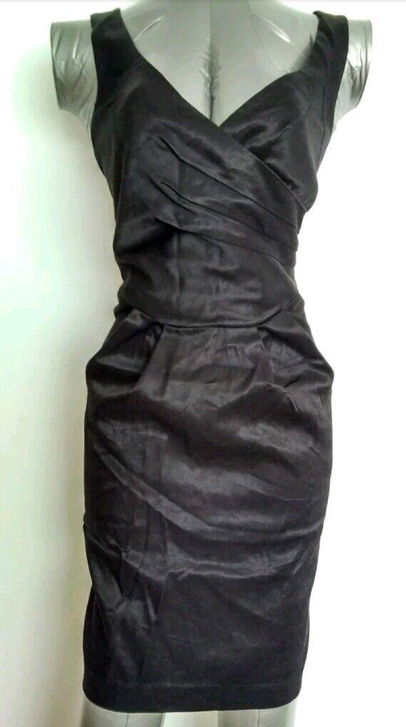 MISS SELFRIDGE Petite Robe Noire Taille 10 Soirée -- Gala -- NEUF -- Soirée 84913b
