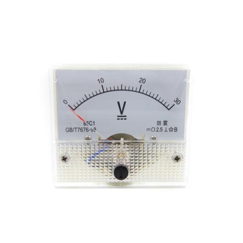 DC 30V Analog Panel Precision Voltmeter Meter Voltmeter 85C1 0-30V