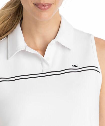 VINEYARD VINES Performance Sleeveless Pleated Tennis Dress WHITE size M or L