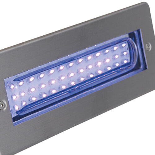 BLU una LED bricklight 2W LED Blu Acciaio Inossidabile alibled ANSELL testo