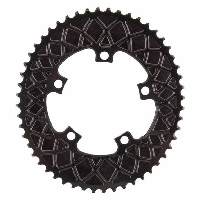 Absolute Black 34t Premium Oval Road 2x Chainring 5x110bcd for sale online