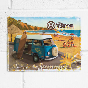 Large-40x30cm-Retro-VW-Metal-Wall-Tin-Sign-Hanging-Art-Summer-Beach-Plaque-Gift