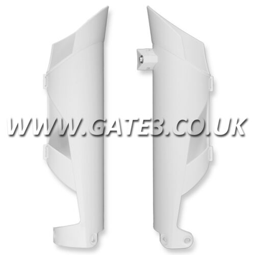 KTM 250SX SX 250 2008-2014 WHITE FRONT LOWER FORK GUARDS MOTOCROSS MX