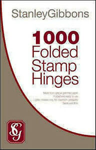 STANLEY-GIBBONS-1000-READY-FOLDED-STAMP-HINGES-COLLECTORS-ACID-FREE-MOUNTS