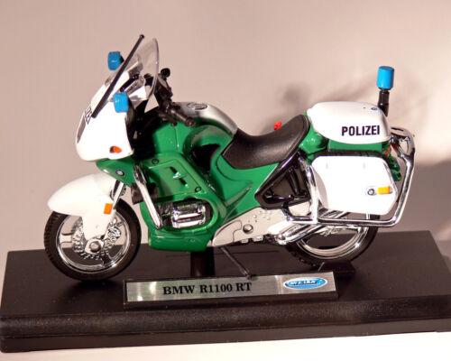 Motorrad Polizei BMW R 1100 RT grün WELLY 1:18