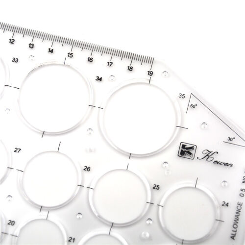Schablonenlineal Messkreis Kunststoff Rundzeichnung Zeichenbedarf WerkzeugTPI