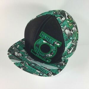 Original-Green-Lantern-Hat-7-1-8-Med-Fitted-Flat-Cap-DC-Comics-Extreme-Graphics