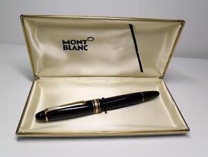 Montblanc Meisterstuck No 146 Fountain Pen W 4810 Solid 14k 585 Montblanc M Nib Ebay