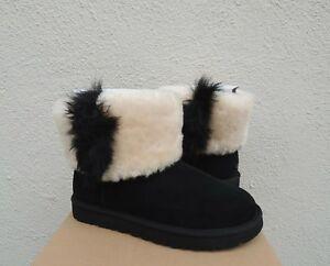 f25ee38e994 Details about UGG BLACK CLASSIC MINI WISP SHEEPSKIN CUFF BOOTS, WOMEN US  11/ EUR 42 ~NIB