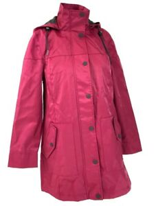 291cd166ea0b Ugg Women s Garnet Red Hooded Waterproof Trench Rain Jacket Size ...