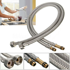 Beau Image Is Loading 2x Stainless Steel Flexible 1 2 039 039