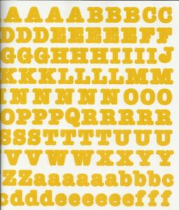Creative-Memories-LARGE-BOLD-ABC-123-Stickers-GOLD-YELLOW