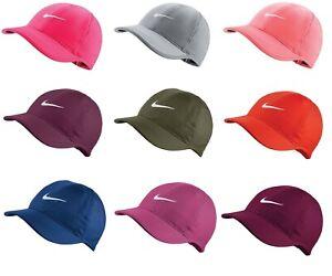 5b3faa15d22 Details about New Nike Women s Feather Light Swoosh Hat Dri Fit Tennis Cap  679424 Running