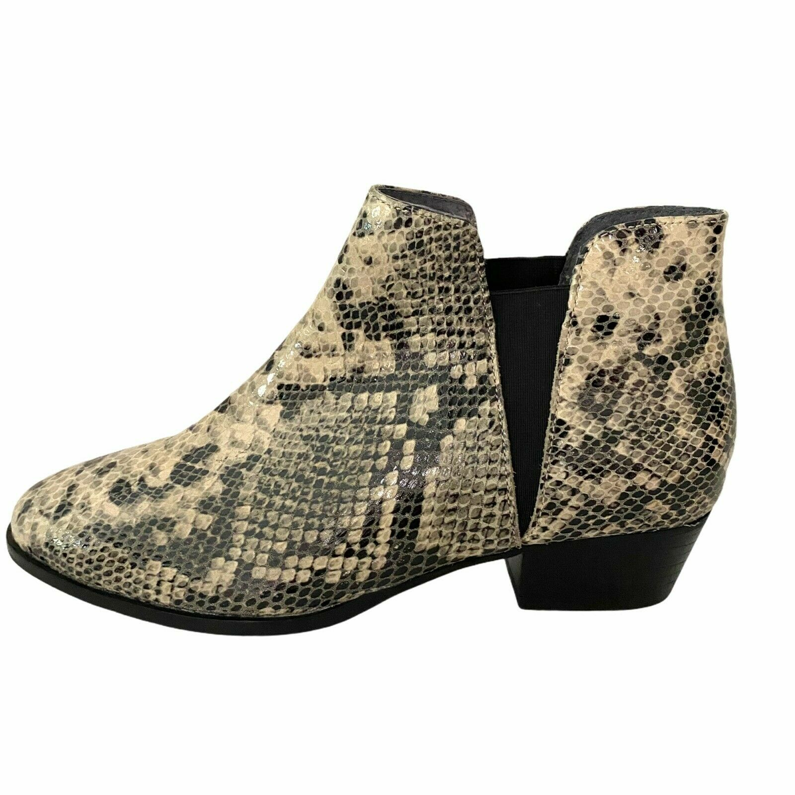 Seychelles Women's Waiting For You Snake Python Embossed Leather Booties Size 8