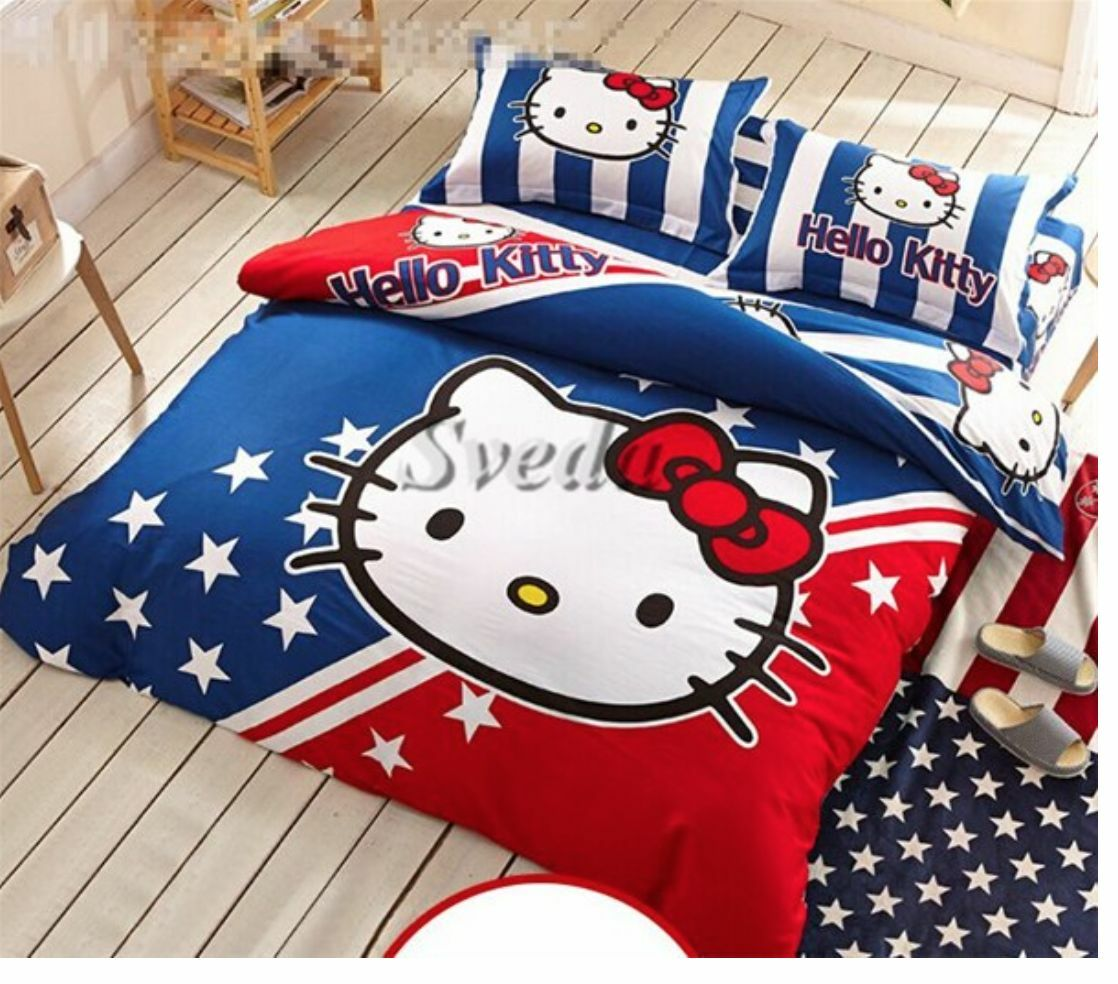 Kinder Hello Kitty Bettbezug Bettbezug Bettbezug für Einzelbett Bett d03c72