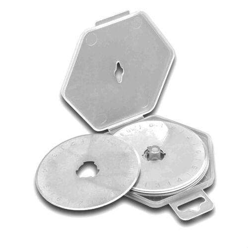 10x Klingen Rollklingen 45mm Stahl für Rollschneider Rollmesser Rollcutter