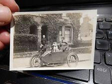 SHOW OFF! MOTORBIKE SIDECAR COMBO to mother in law  SUPER PORTRAIT FULL OF LIFE