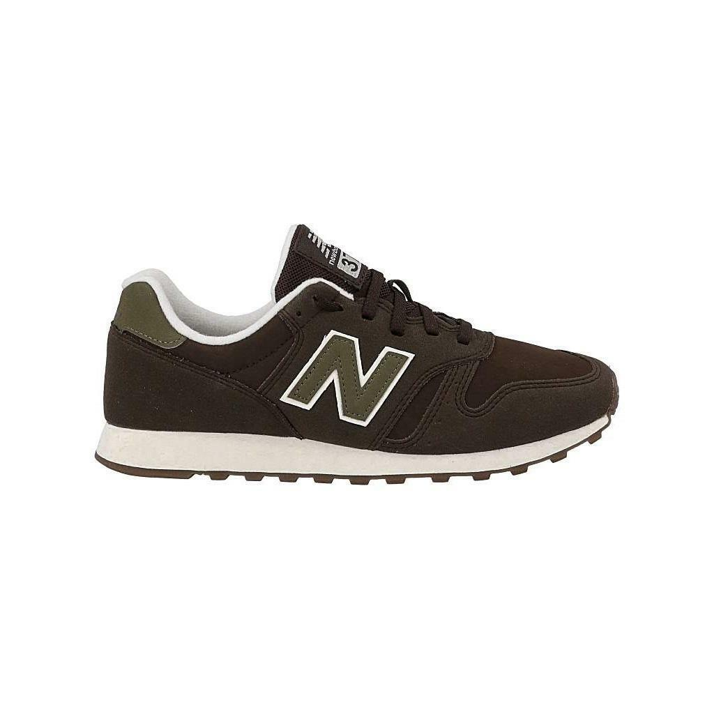 Mens NEW BALANCE 373 Brown Leather Trainers ML373BRS