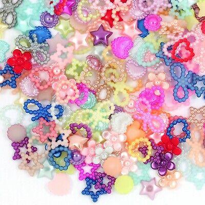 50 Heart Cabochons Flatbacks Pearl Flat Back 8mm Valentines Jewelry Supply Bulk